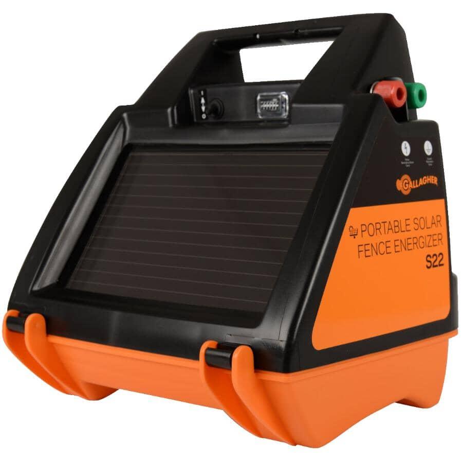 GALLAGHER:Électrificateur de clôture solaire portative S22