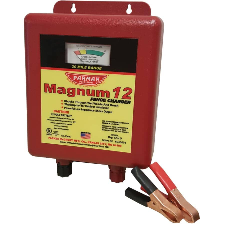 PARMAK:Magnum Low Impedance Battery-Operated Electric Fence Charger - 12V