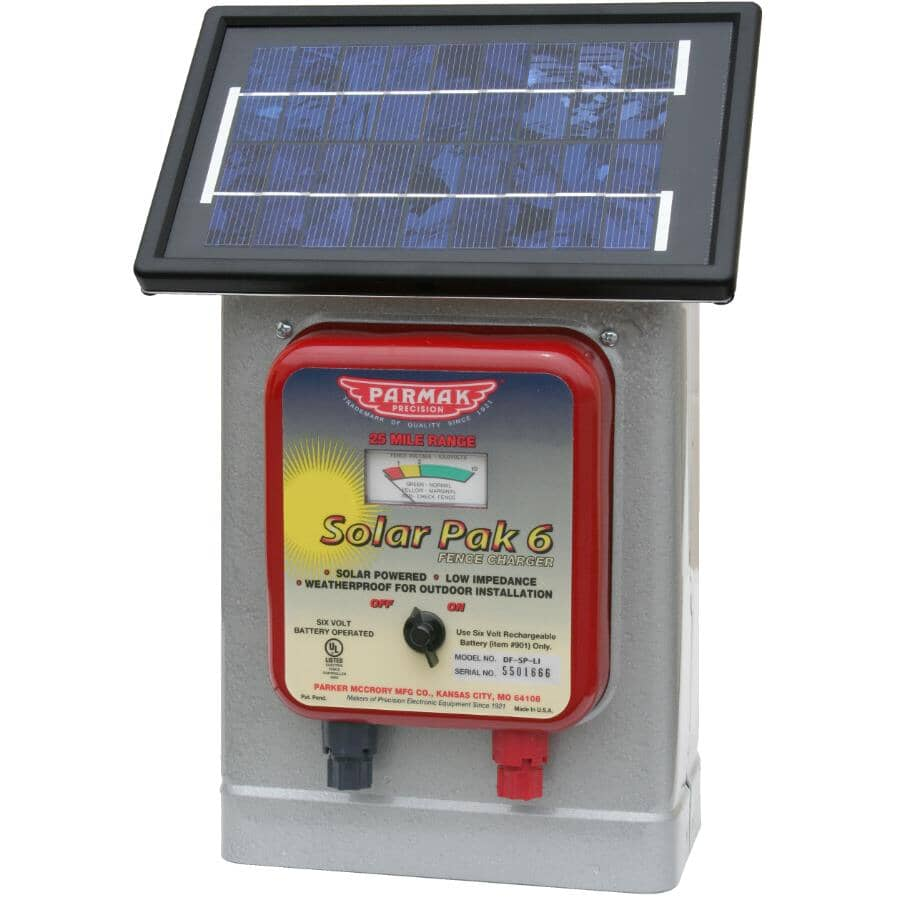 PARMAK:Solar Pak Low Impedance Battery-Operated Electric Fence Charger - 6V