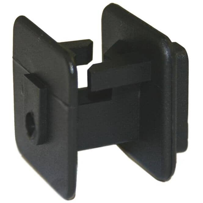PARMAK:Wood Post Insulator for Wire - Black, 25 Pack