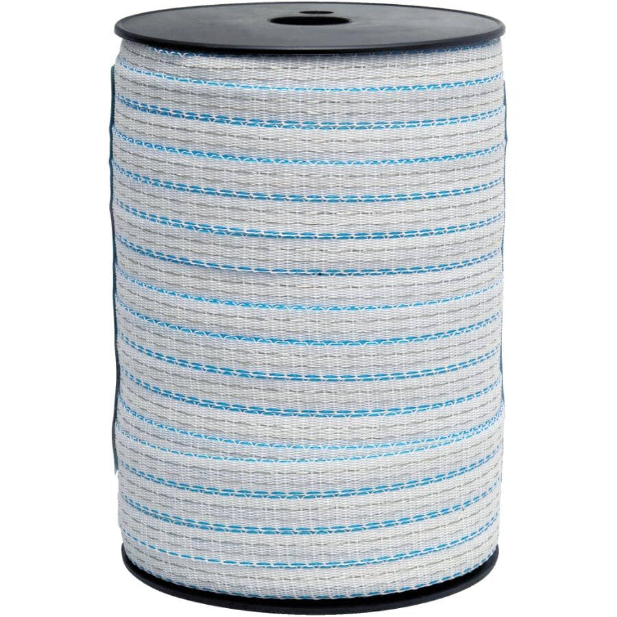 """MATELEVAGE:1/2"""" 200m White Electric Fence Polytape"""