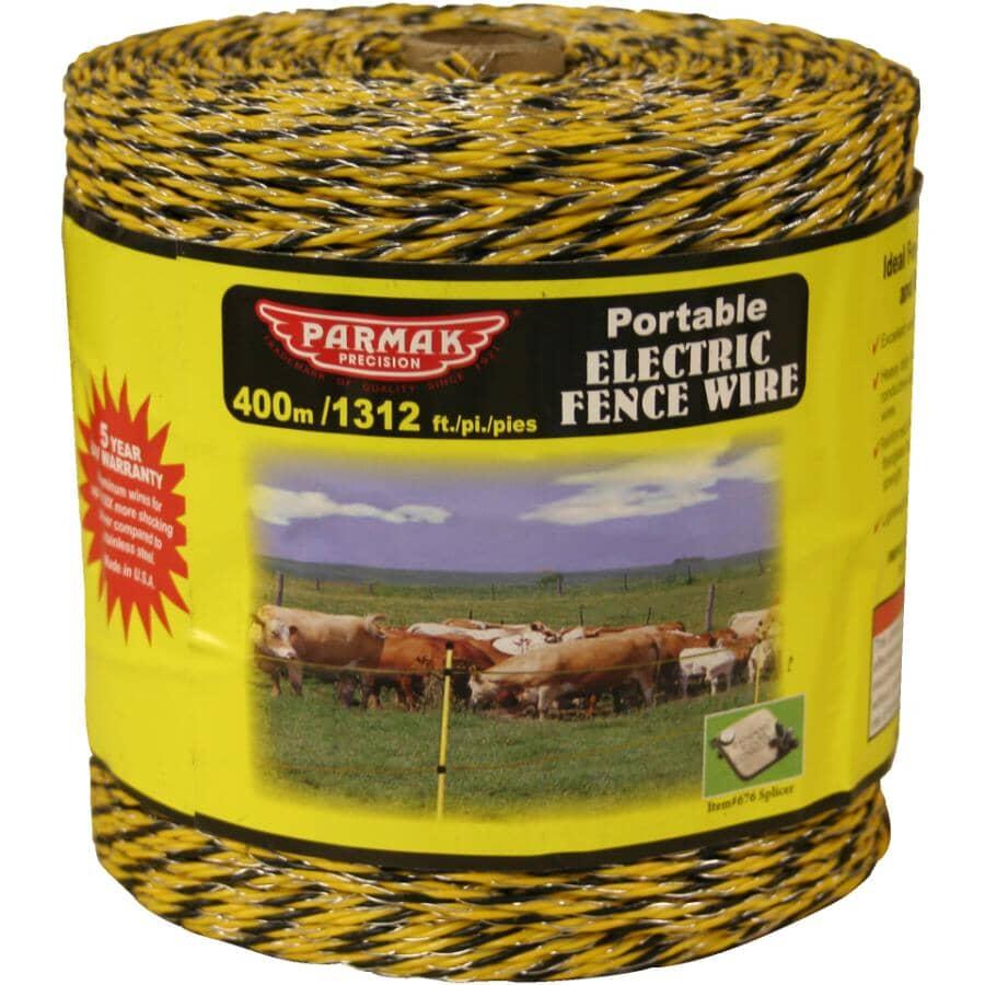 PARMAK:Baygard Heavy Duty Poly Wire - Yellow / Black, 400 m