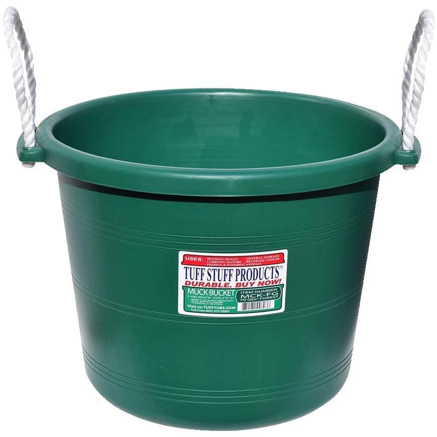 TUFF STUFF PRODUCTS:17.5 Gal Heavy Duty Forest Green Muck Bucket