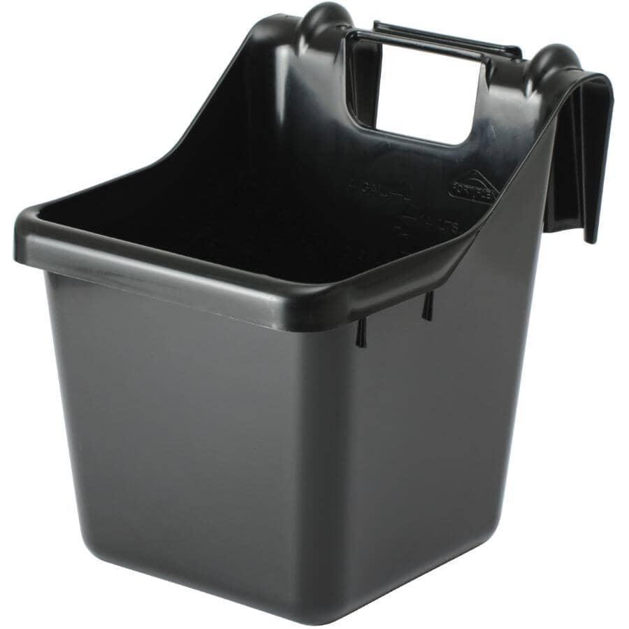FORTIFLEX:15L Black Over-The-Fence Feeder Bucket
