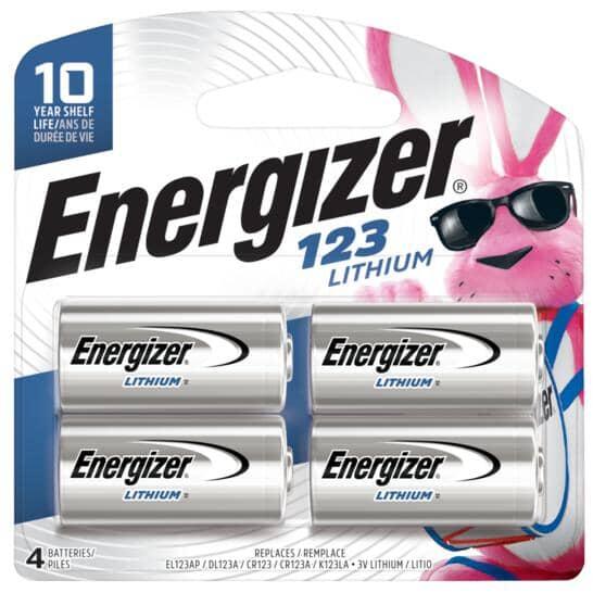 ENERGIZER:123 Lithium Camera Batteries - 4 pack