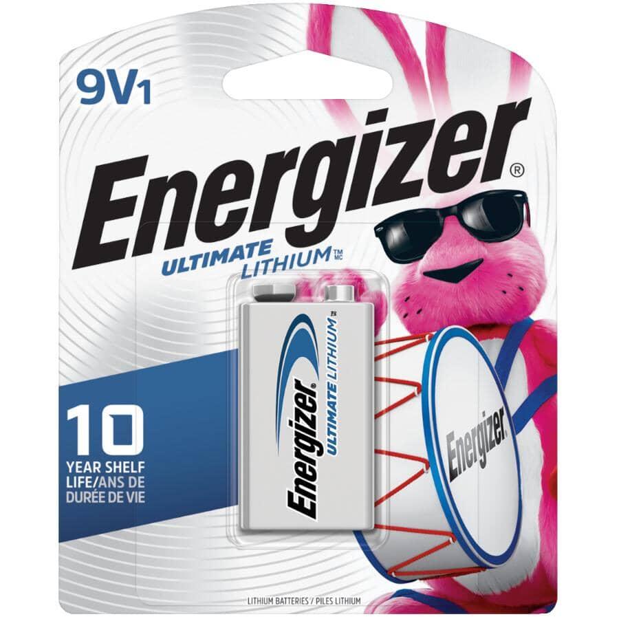 ENERGIZER:9 Volt Ultimate Lithium Battery