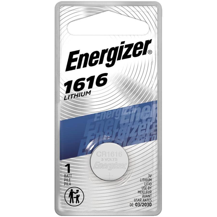 ENERGIZER:3 Volt Lithium ECR1616BP Watch & Electronics Battery