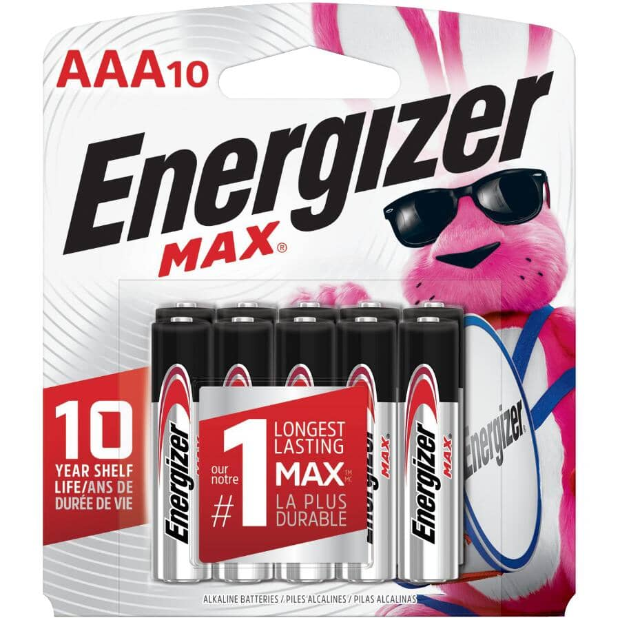 ENERGIZER:Max AAA Alkaline Batteries - 10 Pack