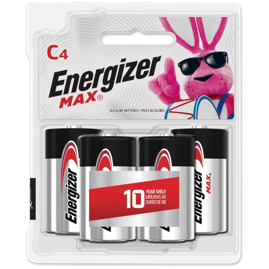 ENERGIZER:Max Alkaline C Batteries - 4 Pack