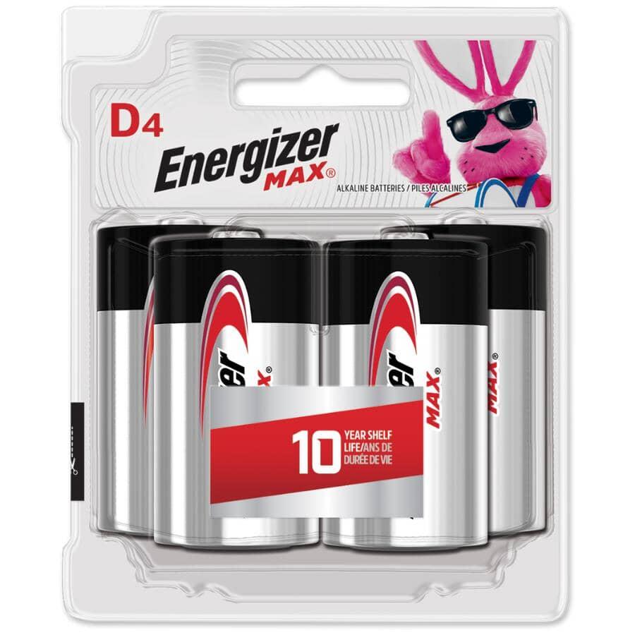 ENERGIZER:Max Alkaline D Batteries - 4 Pack