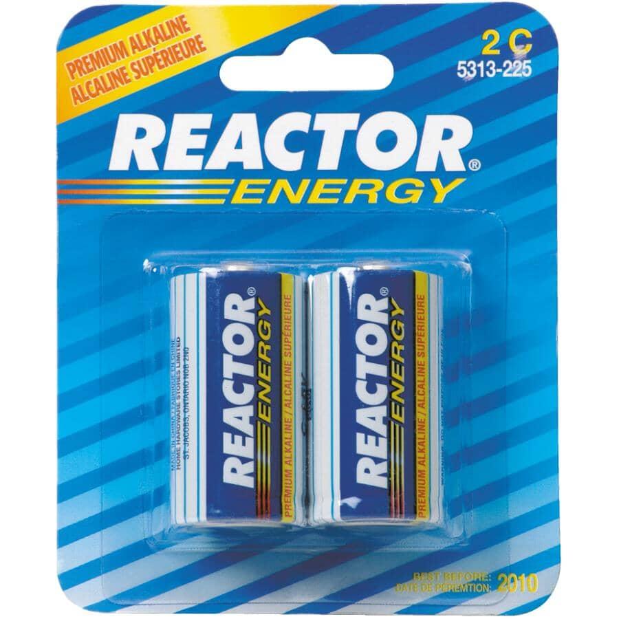 REACTOR:Energy Alkaline C Batteries - 2 Pack