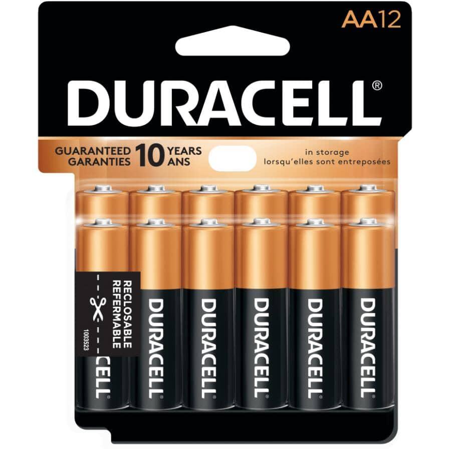 DURACELL:Copper Top Alkaline AA Batteries - 12 Pack