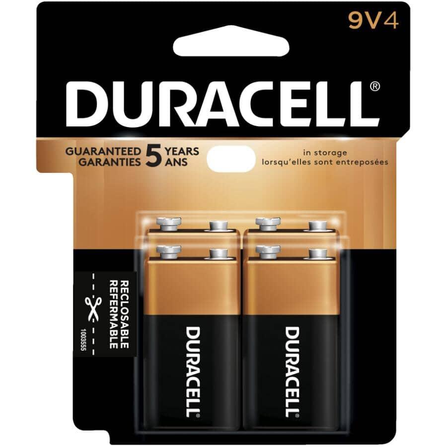 DURACELL:Copper Top Alkaline 9V Batteries - 4 Pack