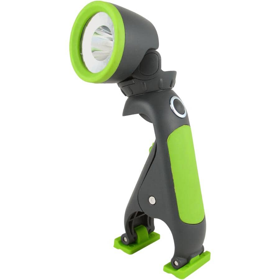 BLACKFIRE:Large Clamplight LED Flashlight