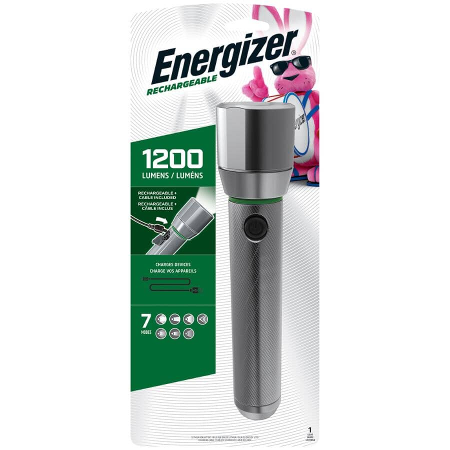 ENERGIZER:Vision HD Rechargeable Aluminum LED Flashlight - with USB Charger