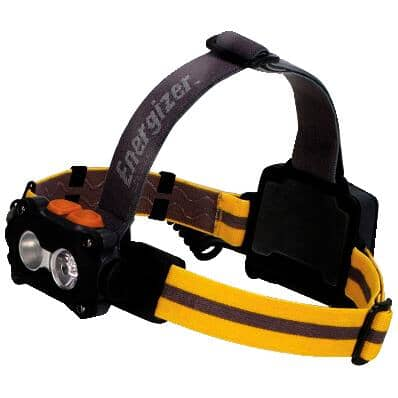 ENERGIZER:Hard Case LED HeadLight - with 3 AA Batteries + 4 Light Modes