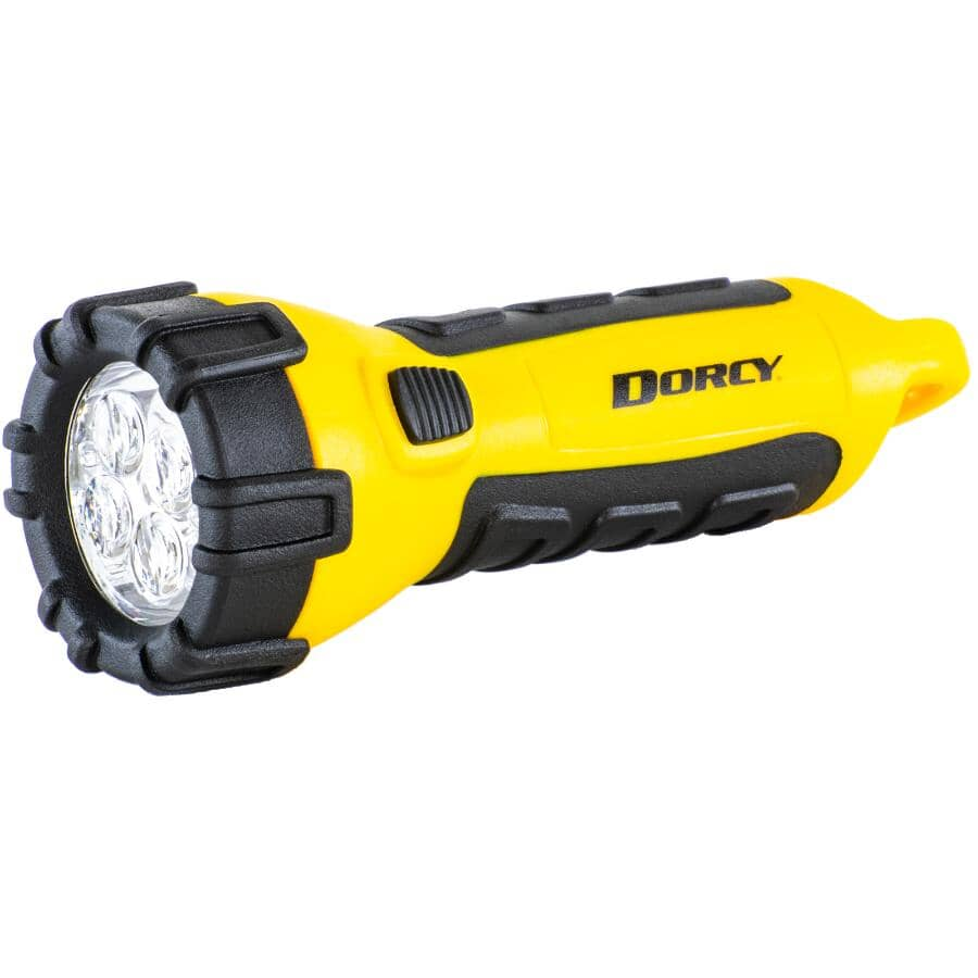 DORCY:LED Waterproof Flashlight - with 3 AA Batteries