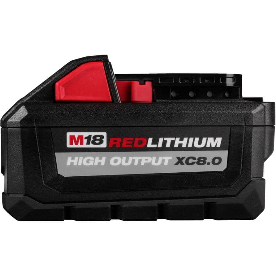 MILWAUKEE:M18 Redlithium High Output Extended Capacity Battery - 18V, 8.0 Ah