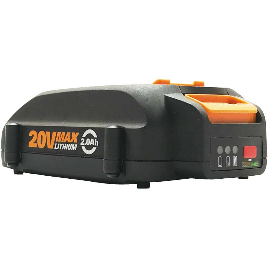 WORX:20 Volt Max 2.0 AH Lithium-ion Battery, with Indicator