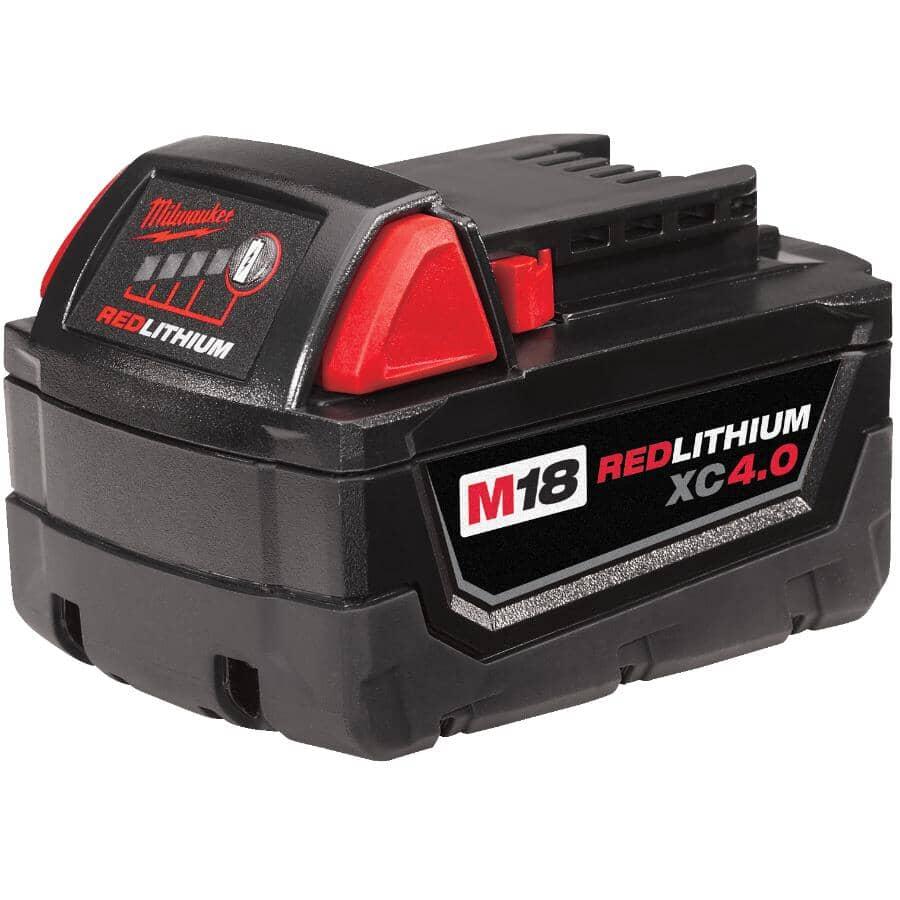 MILWAUKEE:M18 Redlithium Lithium-Ion Extended Capacity Battery – 18V + 4.0 AH