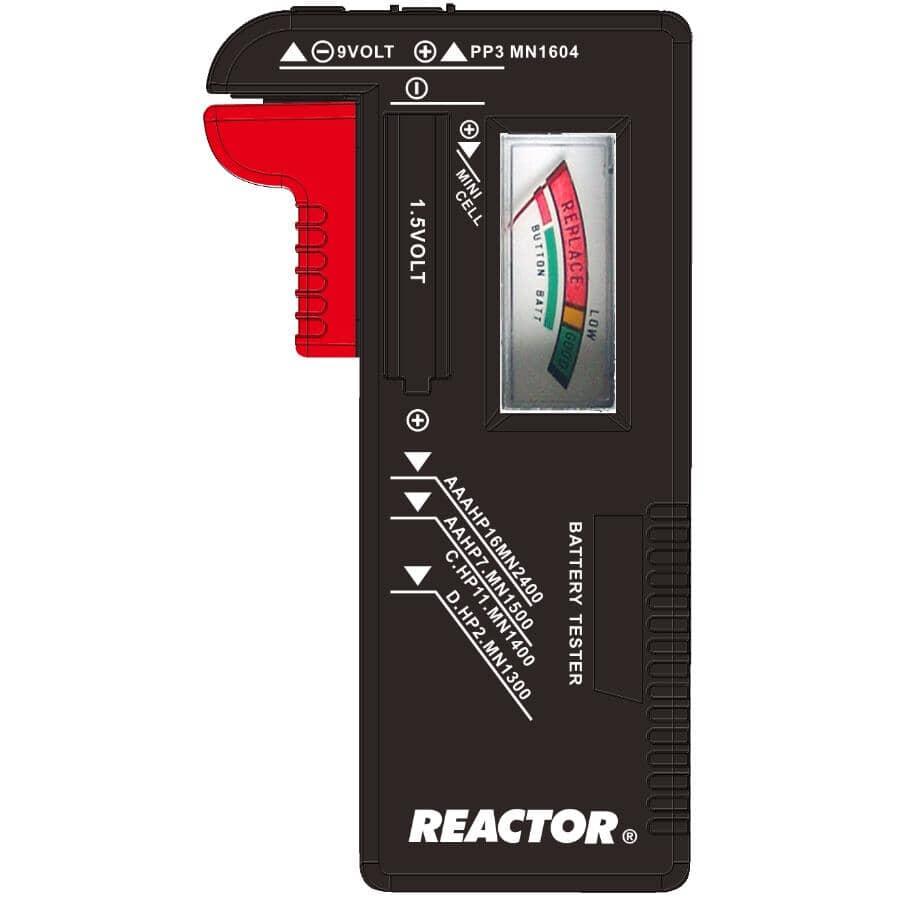 REACTOR:1.5V and 9V Battery Tester