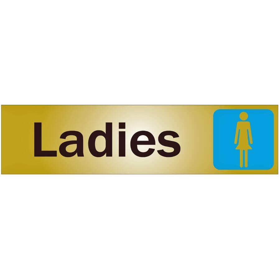 "KLASSEN:2"" x 8"" Metal Stick On Ladies Sign"