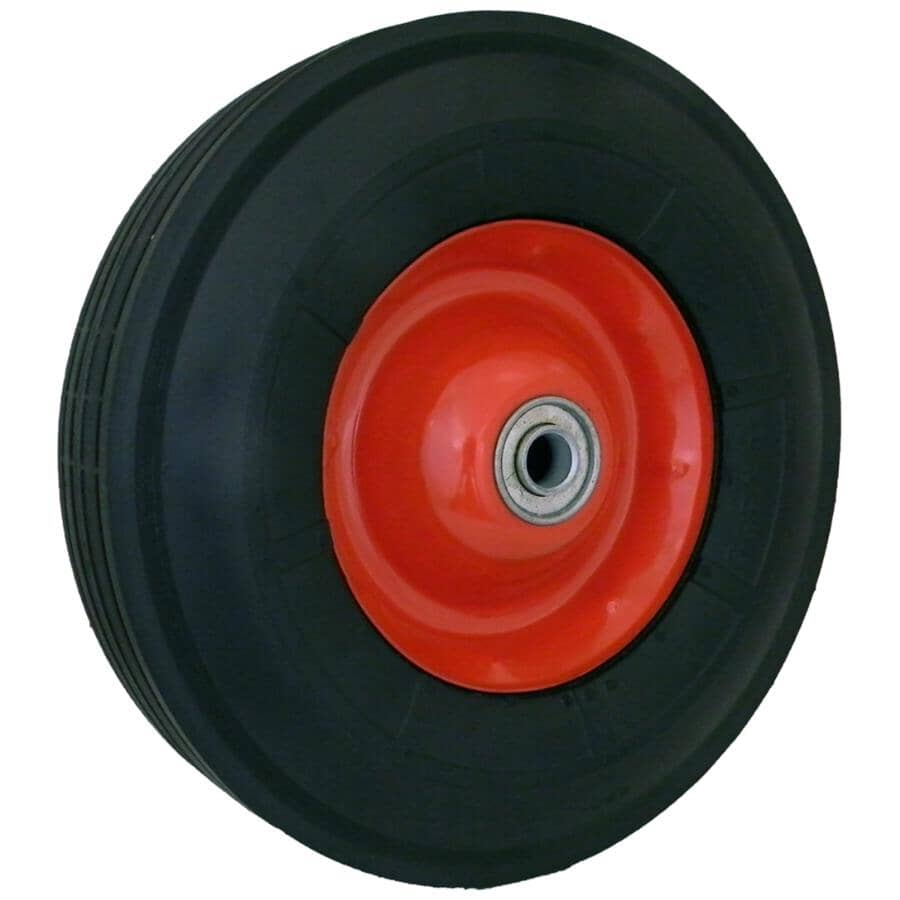 LASER:Roue à moyeu centré avec roulement à billes, alésage de 5/8 po et semi-pneumatique de 10 po x 2,75 po