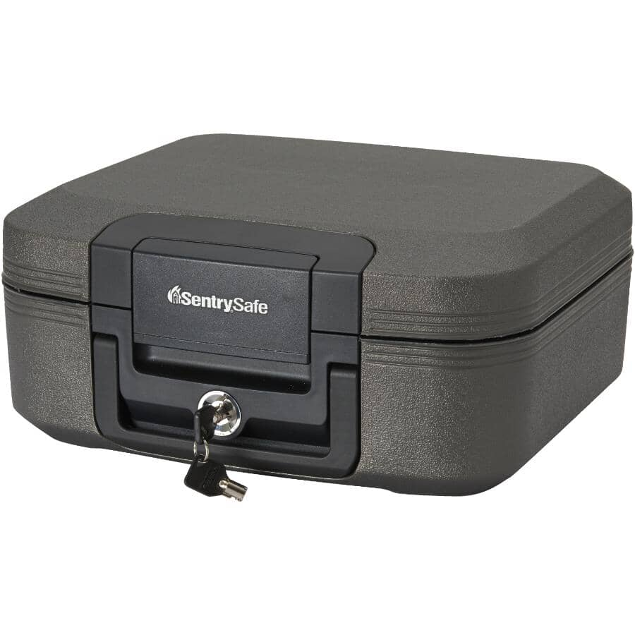 SENTRYSAFE:0.28 cu. ft. Fire Security Chest, with Key