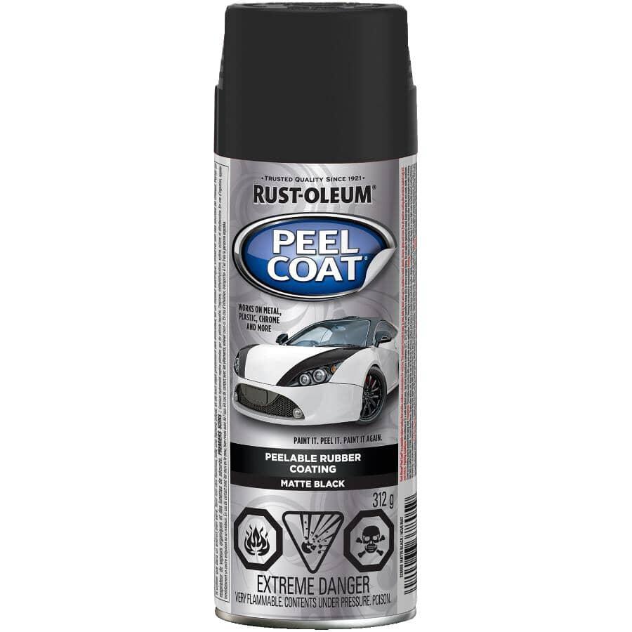 RUST-OLEUM:Revêtement en caoutchouc décollable Peel Coat en vaporisateur, noir mat, 312 g