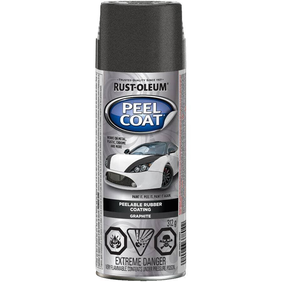 RUST-OLEUM:Revêtement en caoutchouc décollable Peel Coat en vaporisateur, fini mat graphite, 312 g