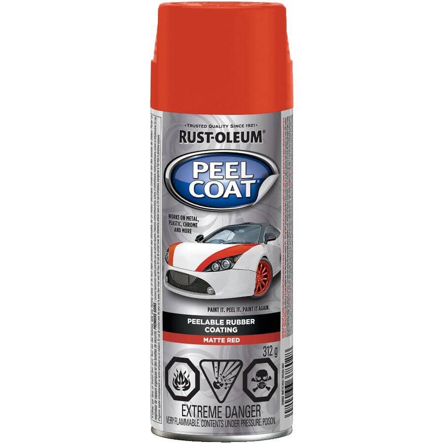 RUST-OLEUM:Revêtement en caoutchouc décollable Peel Coat en vaporisateur, rouge mat, 312 g