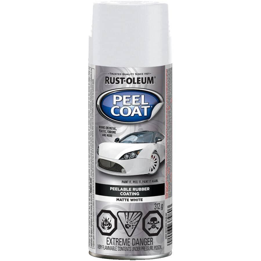 RUST-OLEUM:Revêtement en caoutchouc décollable Peel Coat en vaporisateur, blanc mat, 312 g