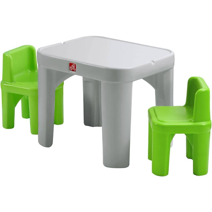 STEP 2:3 Piece Kids Mighty My Size Table and Chair Set