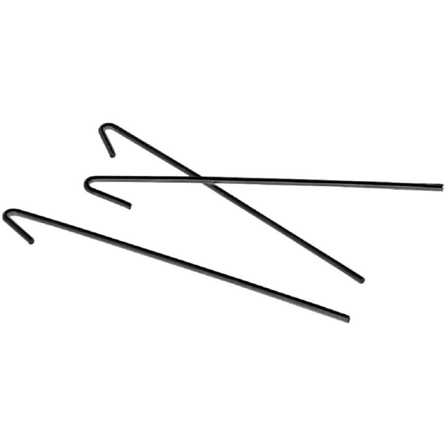 "MASTER HALCO:50 Pack 6.5"" x 11 Gauge Black Fence Ties"