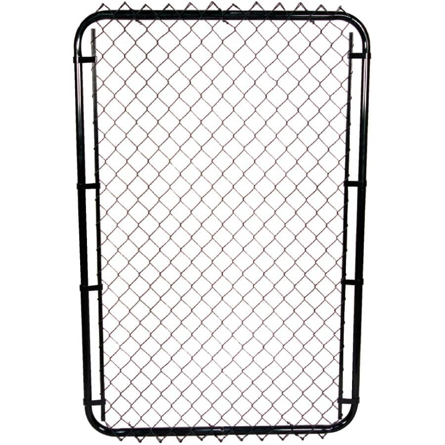 """MASTER HALCO:58""""H x 24"""" to 72""""W Adjustable 11 Gauge Black Chain Link Gate, with 2"""" Squares"""