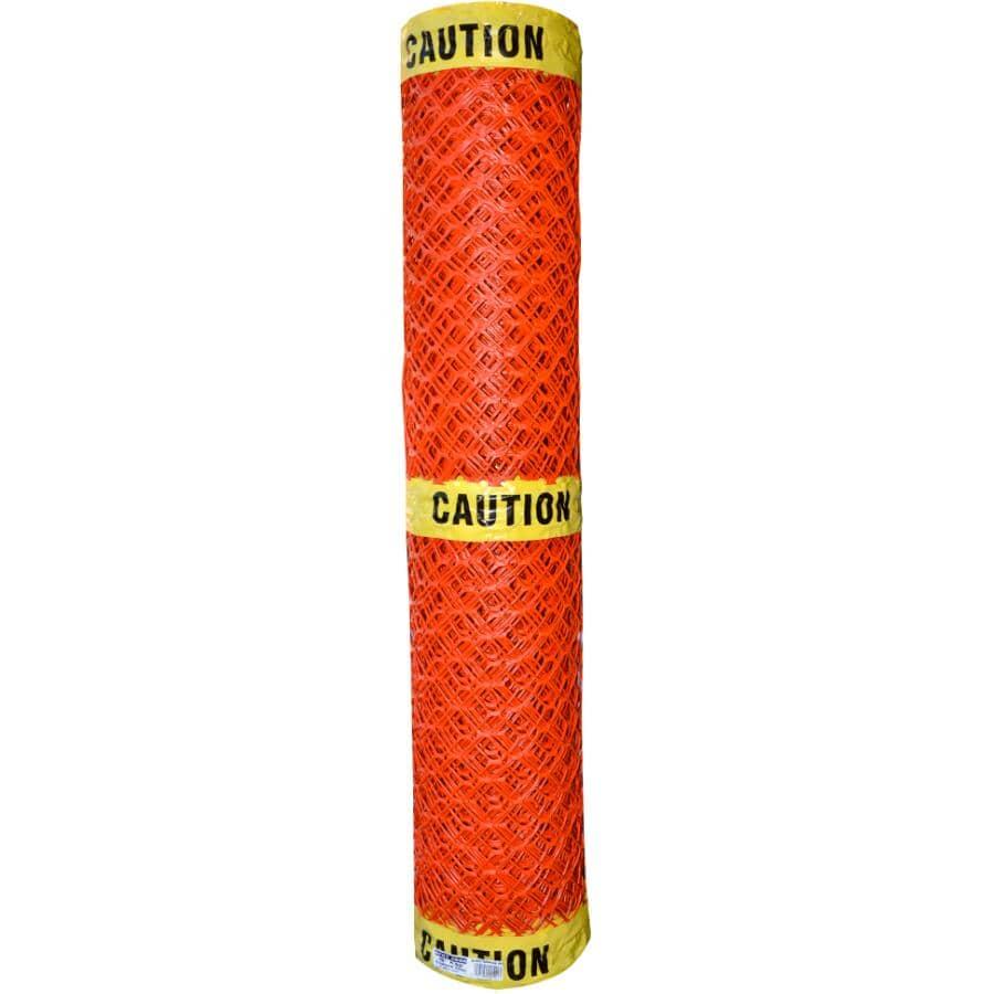 QUEST BRANDS:4' x 50' Lightweight Orange Barrier/Caution Fence