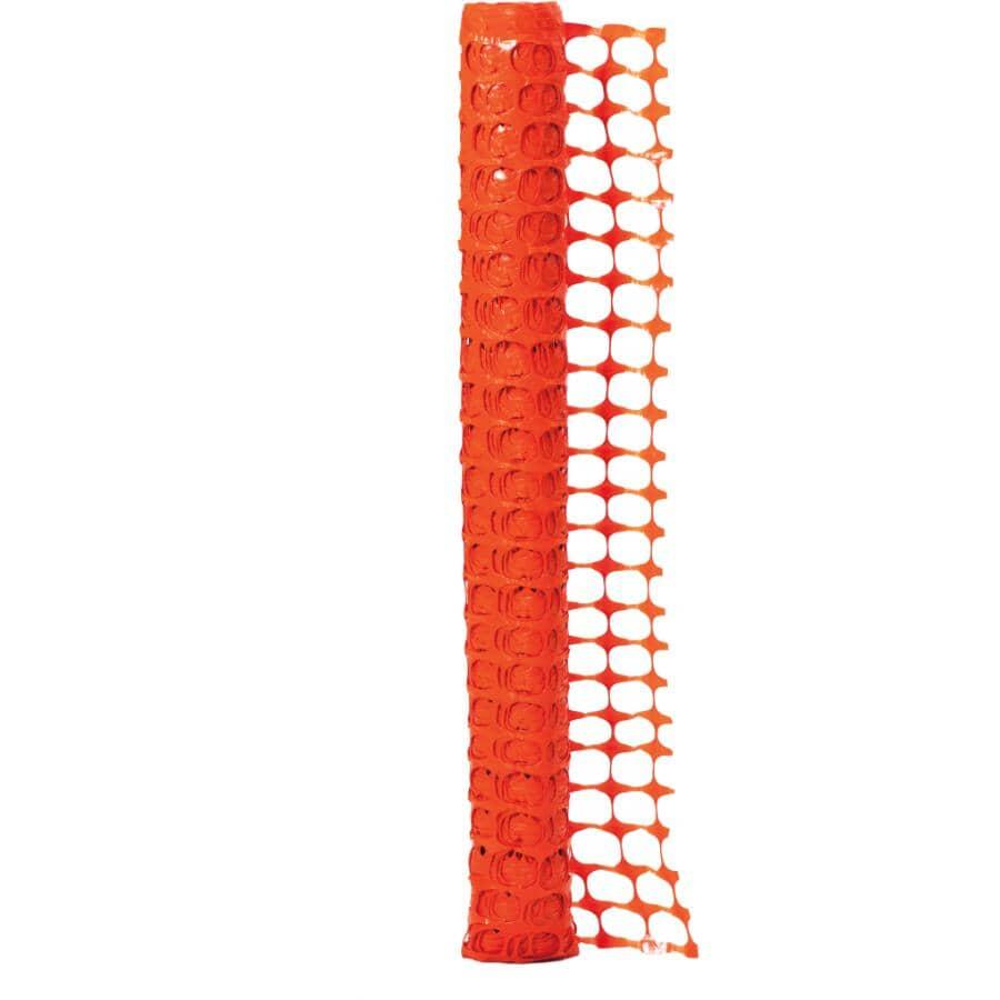 QUEST BRANDS:4' x 50' Orange Warning Barrier Fence