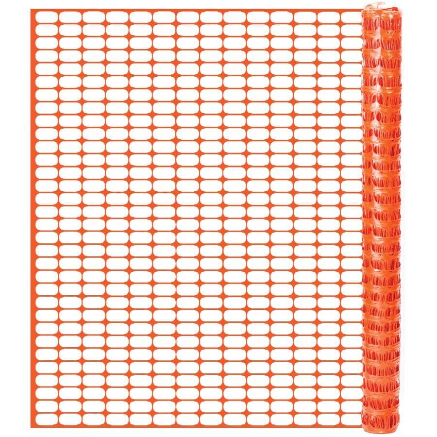 QUEST BRANDS:4' x 100' Orange Warning Barrier Fence