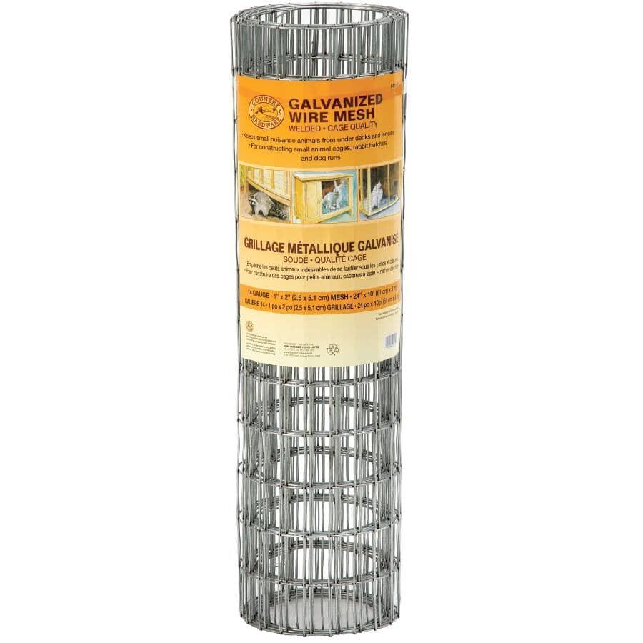 "COUNTRY HARDWARE:14-Gauge Galvanized Welded Fence - 1"" x 2"" x 24"" x 10'"
