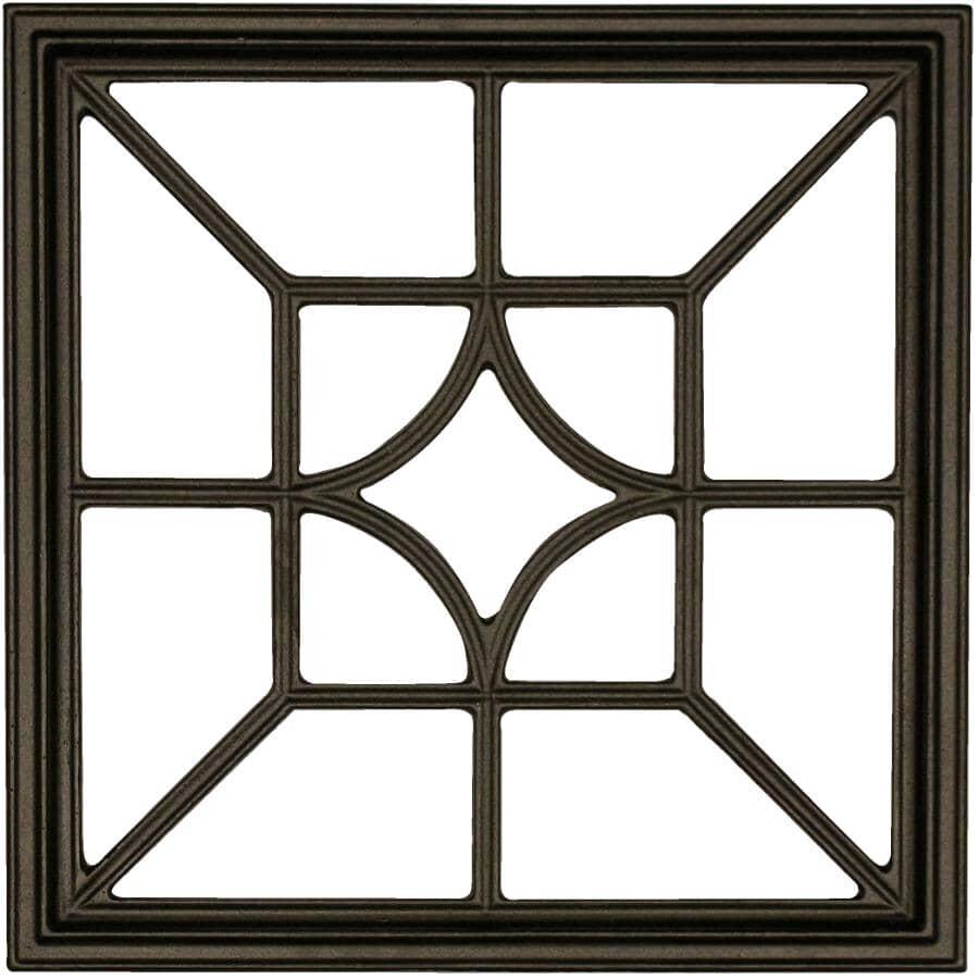 "NUVO IRON:15"" x 15"" Black Powder Coated Aluminum Ornamental Gate Insert"
