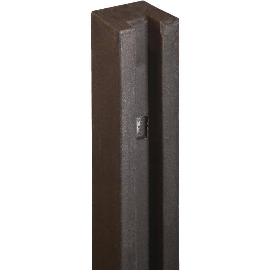 "SIMTEK:5"" x 5"" x 102"" Dark Walnut Brown Fence End Post"