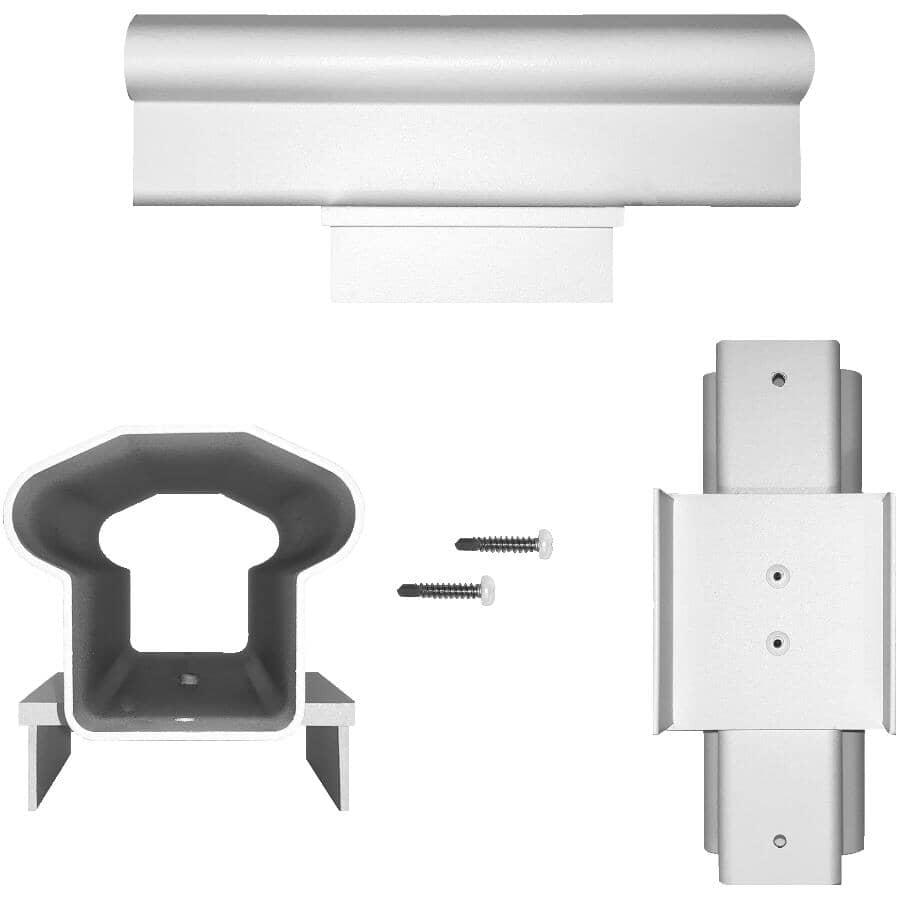 NUVO IRON:White Aluminum Inline Railing Post Cap