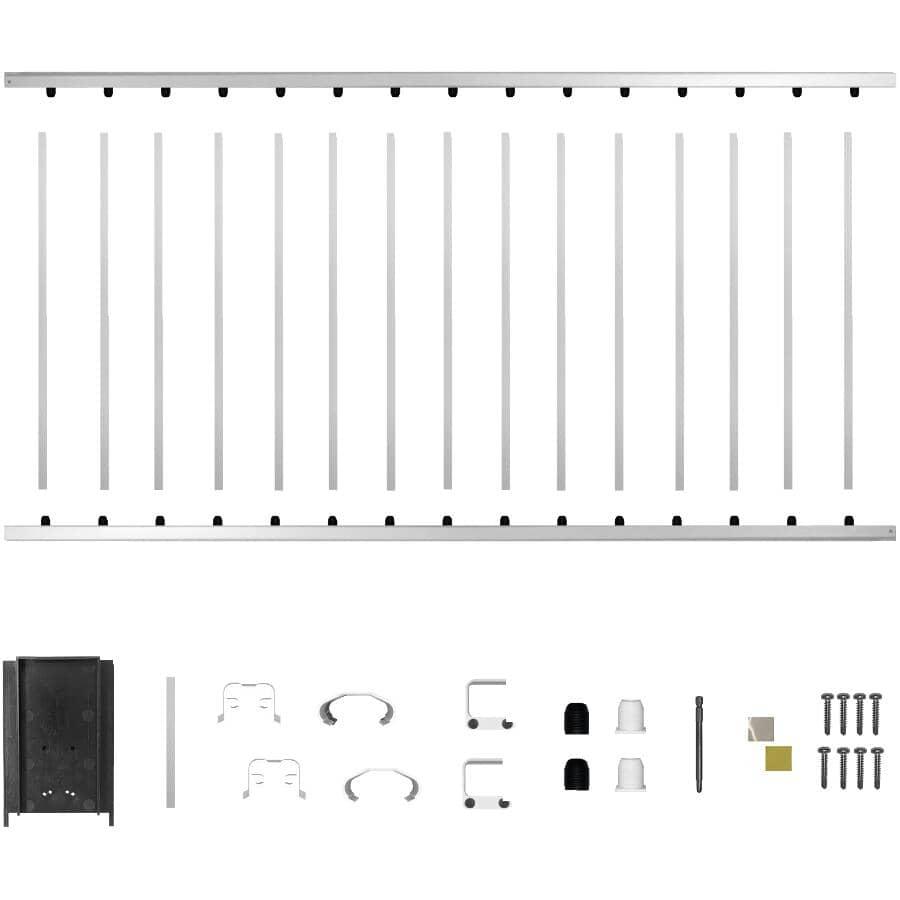 "NUVO IRON:6' x 42"" White Aluminum Railing Kit"