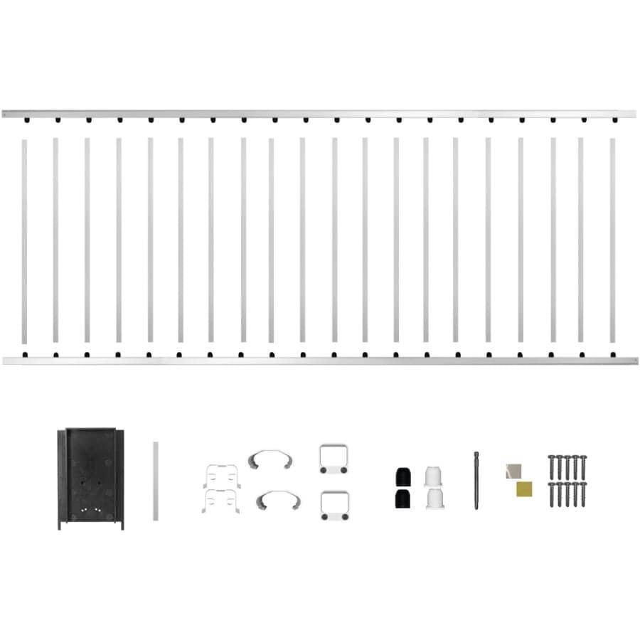 "NUVO IRON:8' x 42"" White Aluminum Railing Kit"