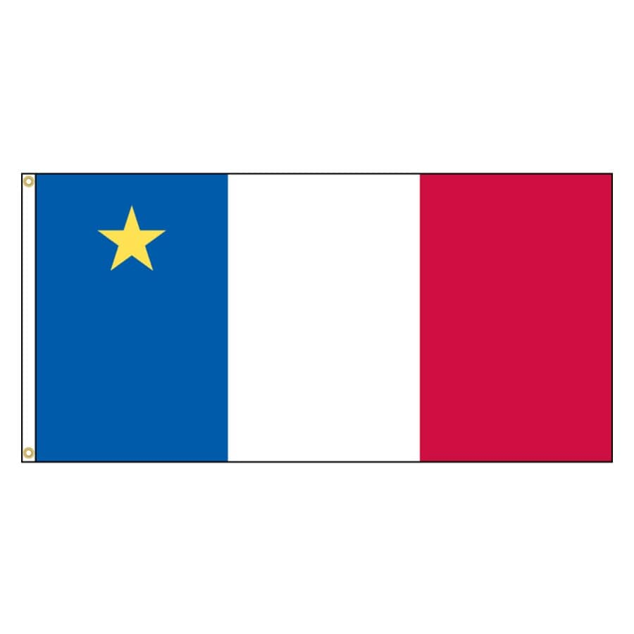 """FLAGS UNLIMITED:36"""" x 72"""" Duraknit Acadian Flag"""