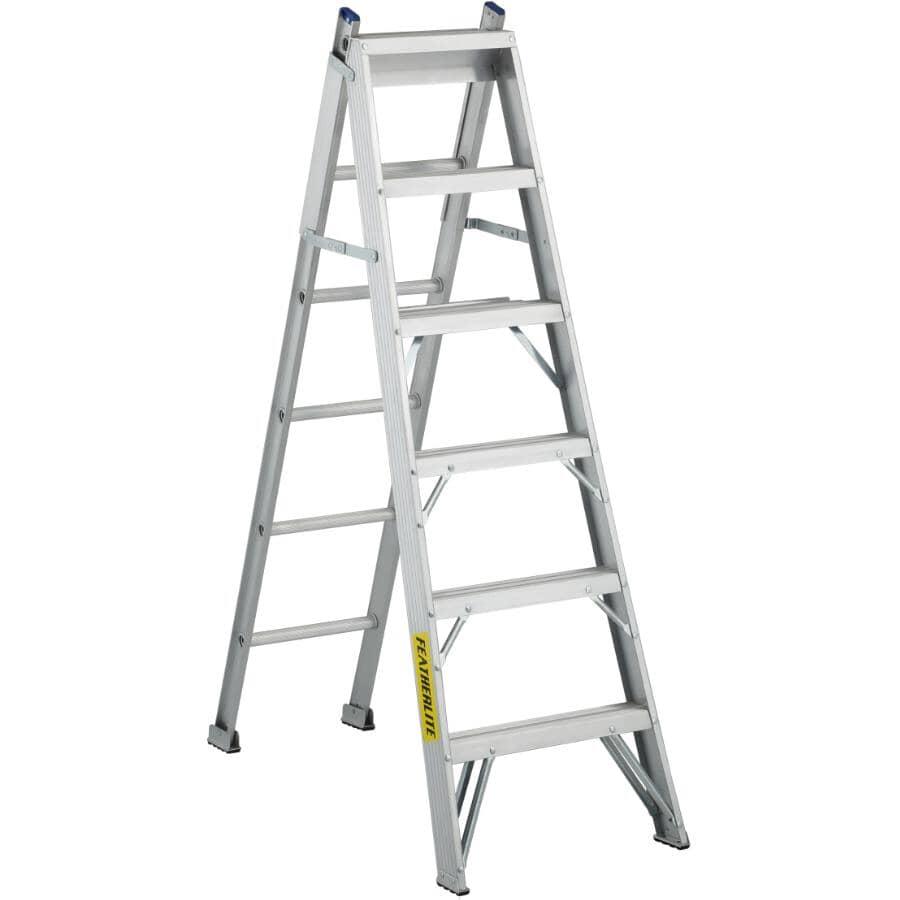 FEATHERLITE:6' #1 Aluminum 3-Way Ladder