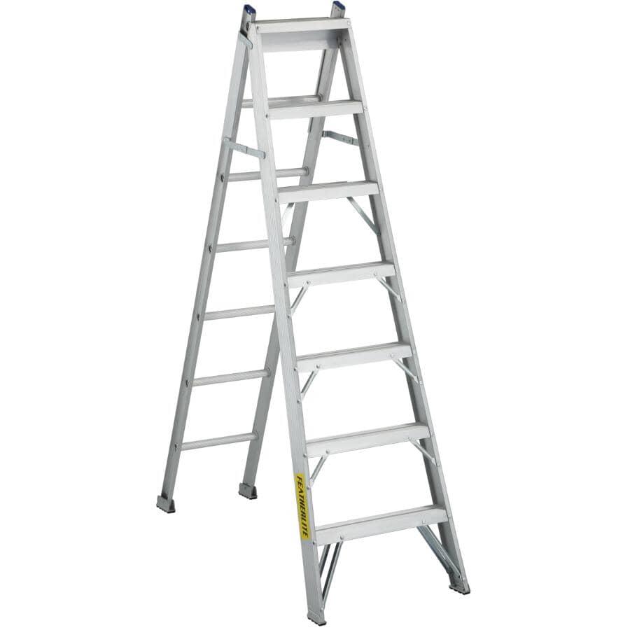FEATHERLITE:7' #1 Aluminum 3-Way Ladder