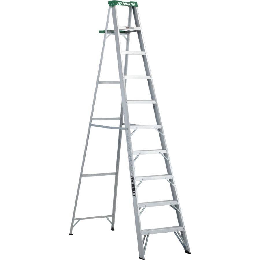 FEATHERLITE:10' #2 Aluminum Step Ladder