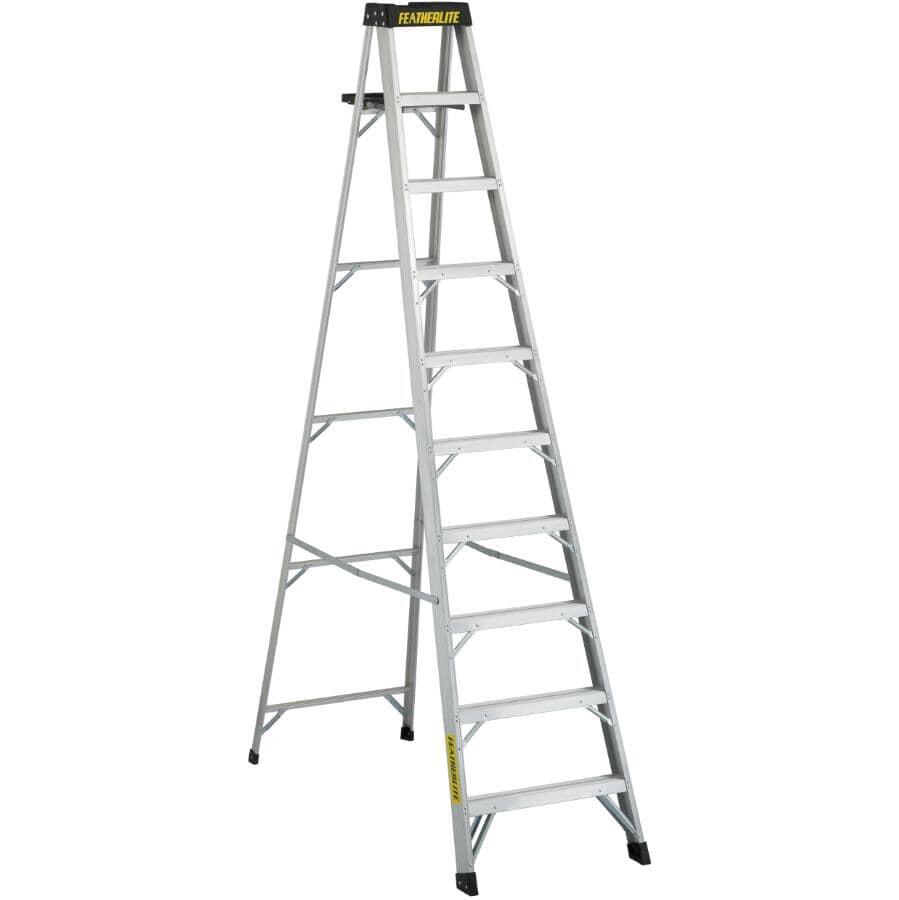 FEATHERLITE:10' #1A Aluminum Step Ladder