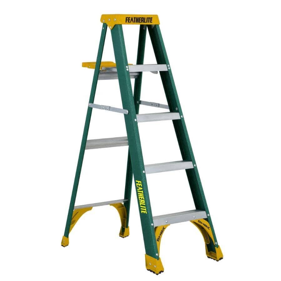 FEATHERLITE:5' #2 Fibreglass Step Ladder